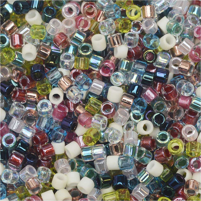 Miyuki Delica Seed Beads, 10/0 Size, 8 Grams, Mix Spring Flowers Mixed Pastels