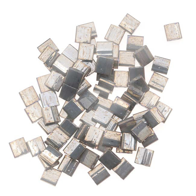 Miyuki Tila 2 Hole Square Beads 5mm 'Galvanized Grey Luster' 7.2 Grams