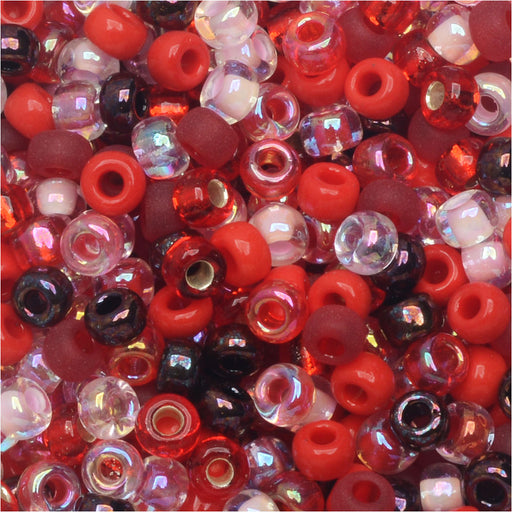 Miyuki Round Seed Beads, 8/0, 22 Gram Tube, #9MIX05 Transparent Strawberry Fields Mix