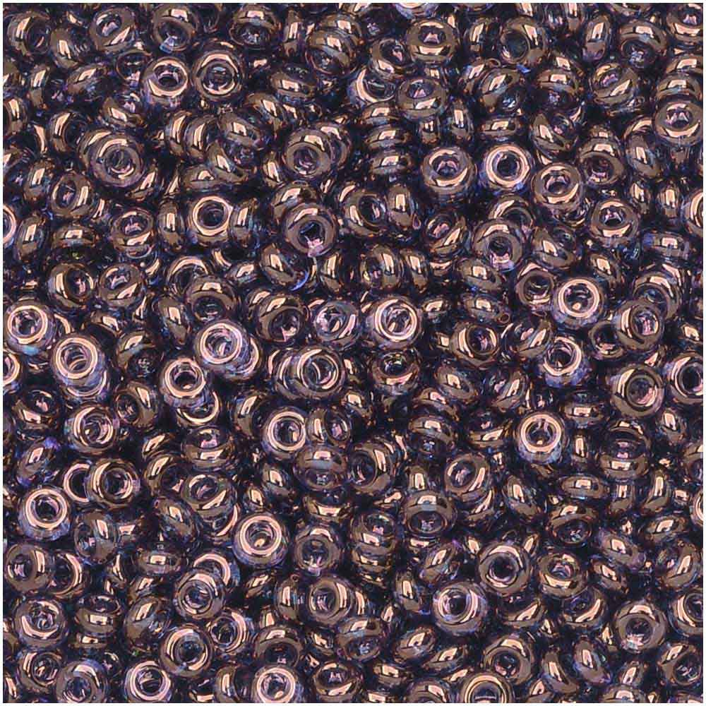 Toho Demi Round Seed Beads, Thin 11/0 (2.2mm) Size, 7.8 Grams, #201 Gold Lustered Amethyst