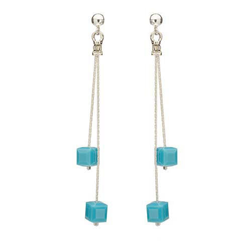 Retired - Turquoise Cubed Earrings