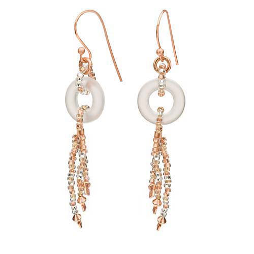 Retired - Crystal and Copper Donut Earrings