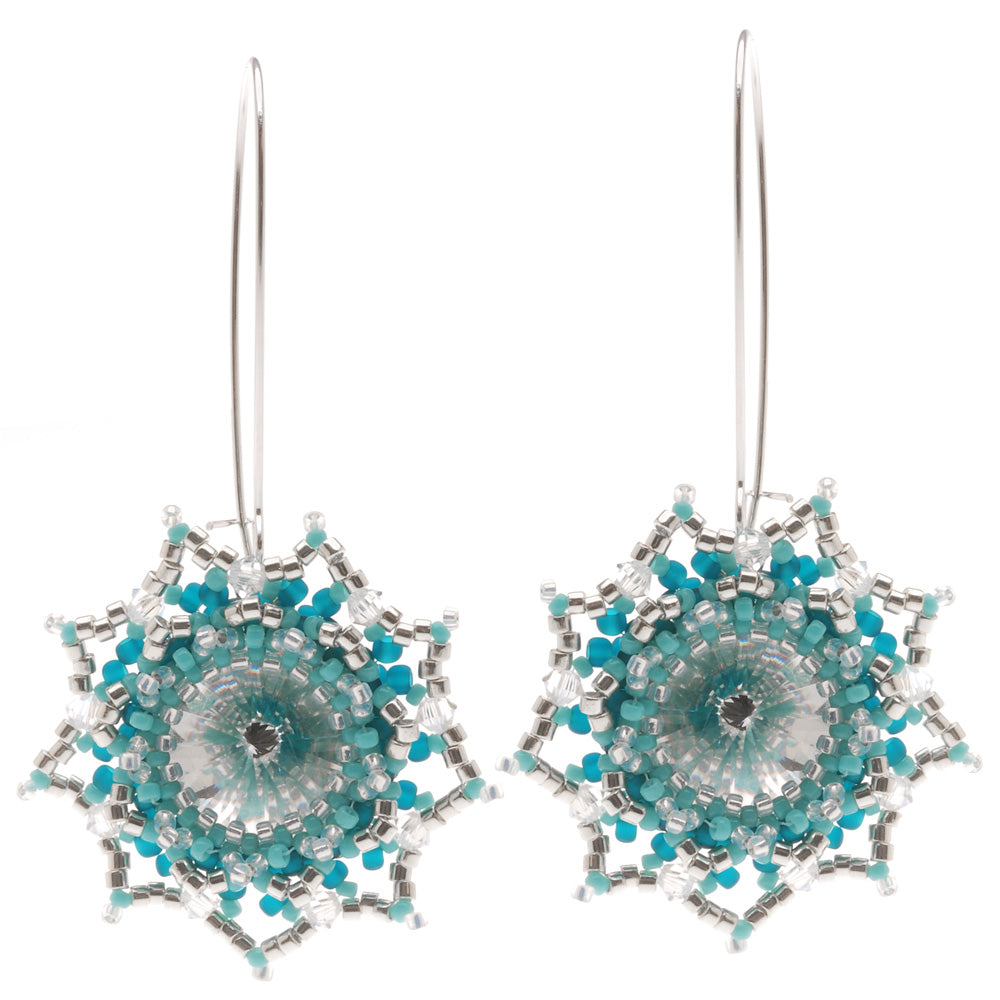 Retired - Evening Star Earrings in Teal