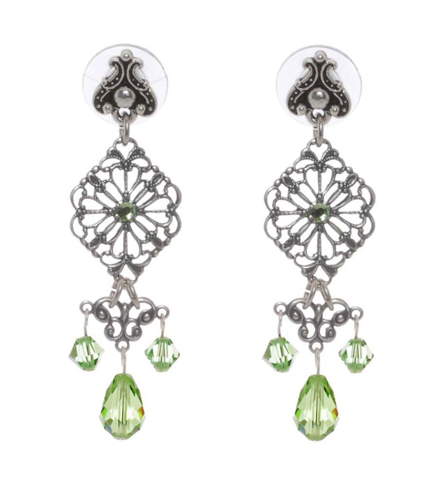 Retired - Edwardian Peridot Earrings