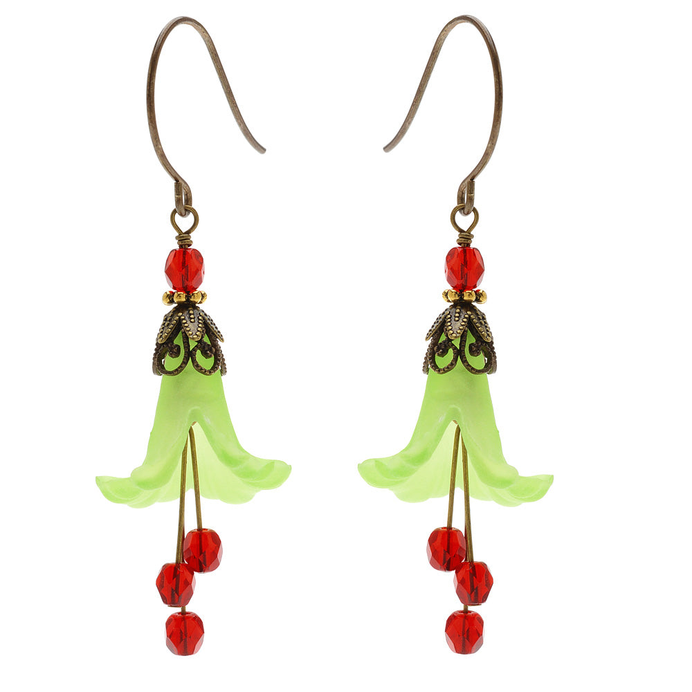 Retired - Fancy Floral Christmas Earrings