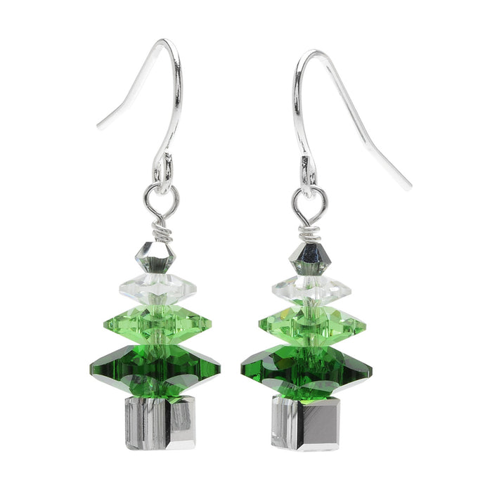 Retired - Ombre Crystal Christmas Tree Earrings