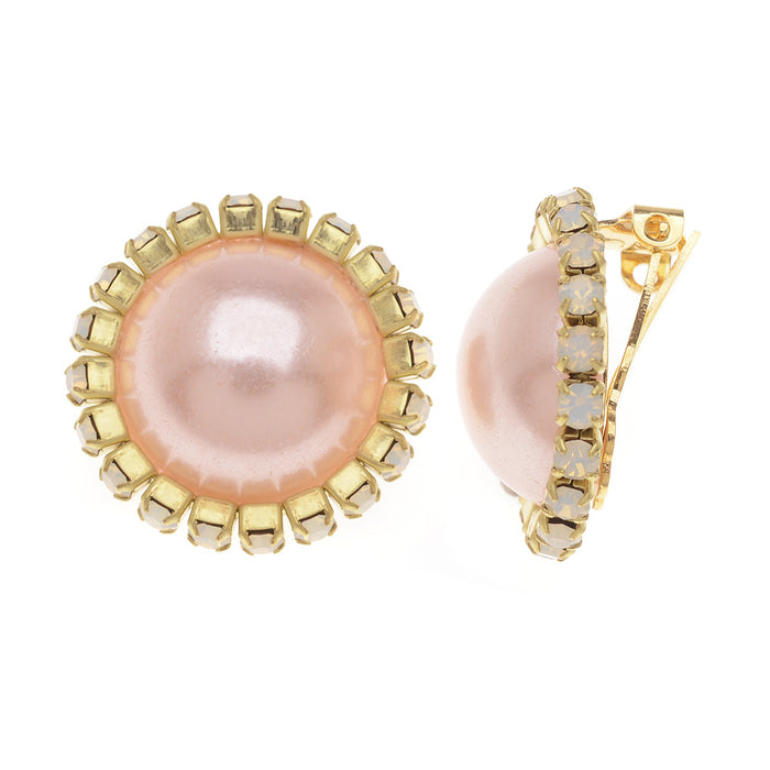 Retired - Marianne Clip On Earrings in Pink