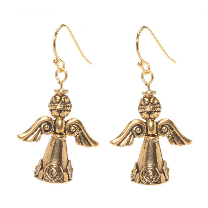 Retired - Silver and Gold (and Copper!) Angel Earrings