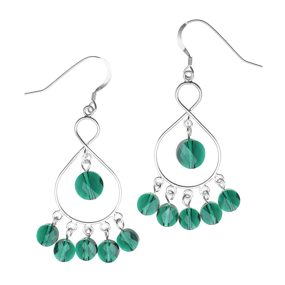 Retired - Layla Earrings in Emerald