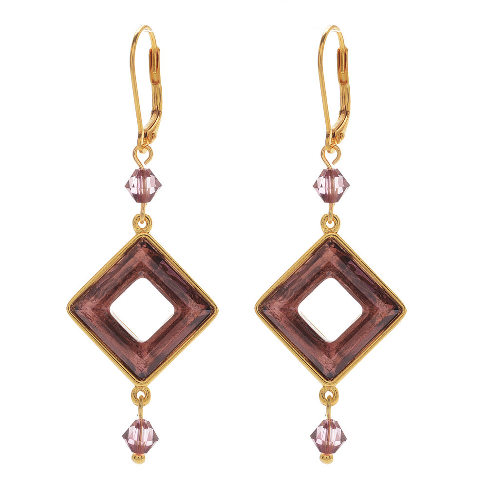 Retired - Crystal Square Soiree Earrings