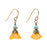 Mustard Flower Earrings