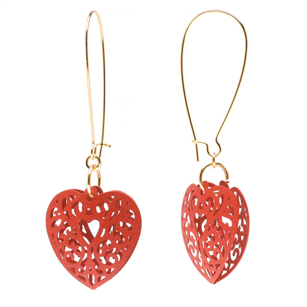 Retired - Lacy Heart Earrings