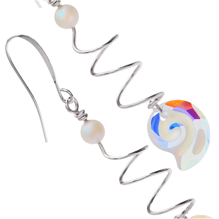 Retired - Swarovski Crystal Sea Snail Earrings