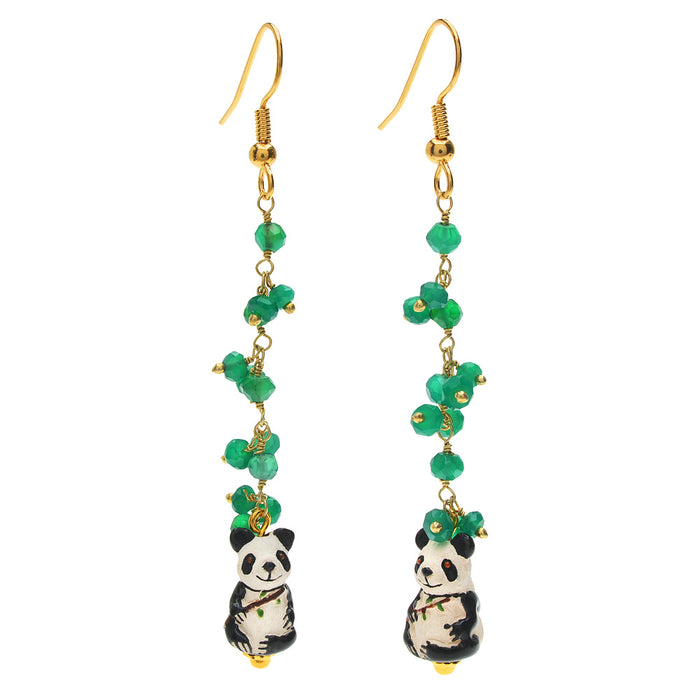 Retired - Happy Panda Earrings