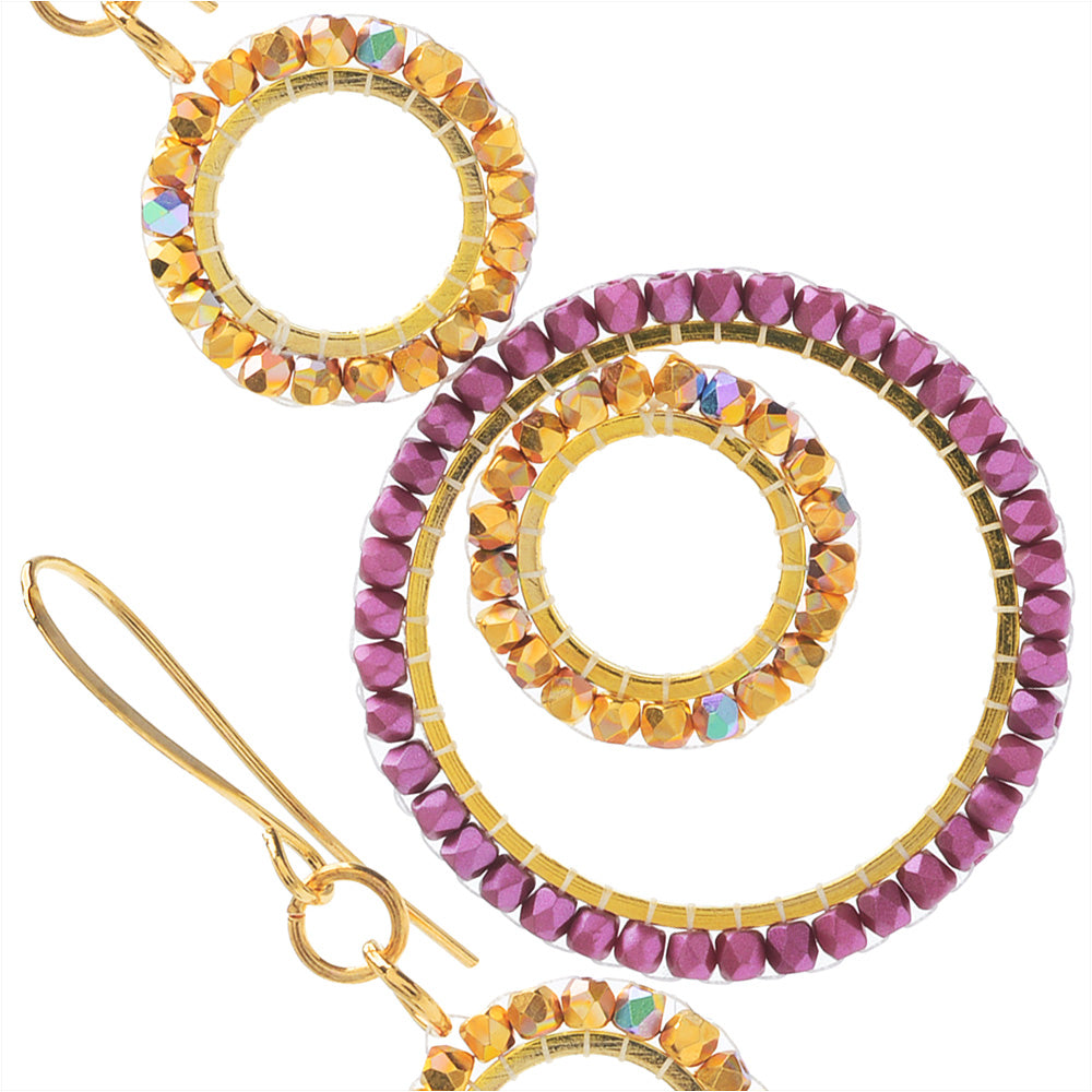 Jasmine Earrings in Purple