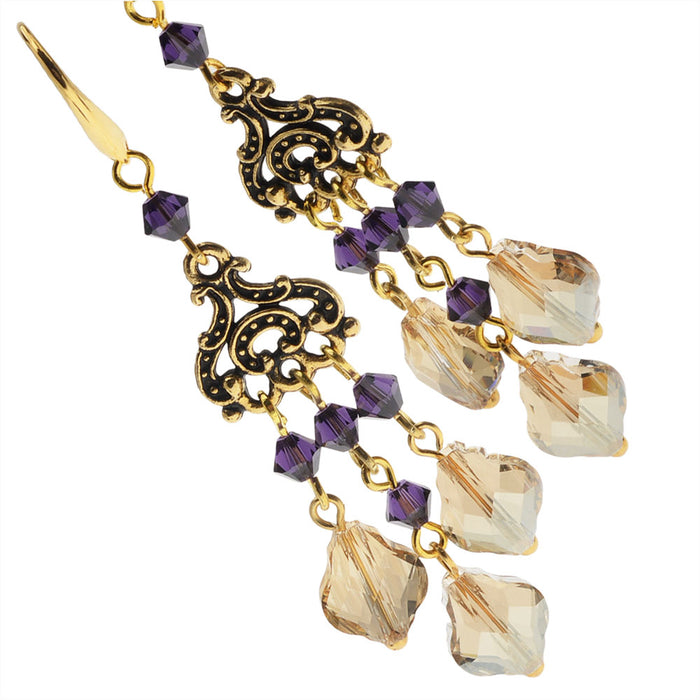 Baroque Chandelier Earrings