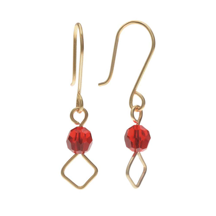 Red India Earrings