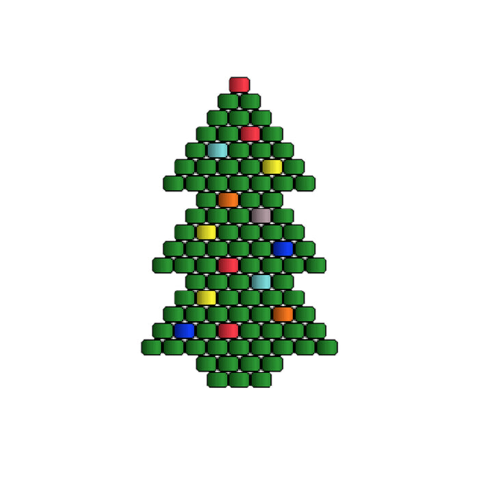 Beaded Christmas Tree Earrings