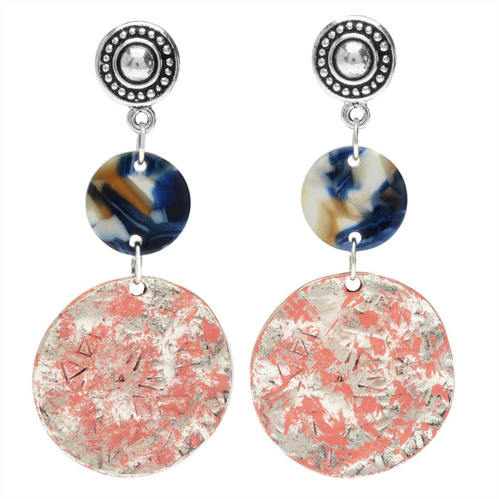 Retired - Coral Twilight Earrings