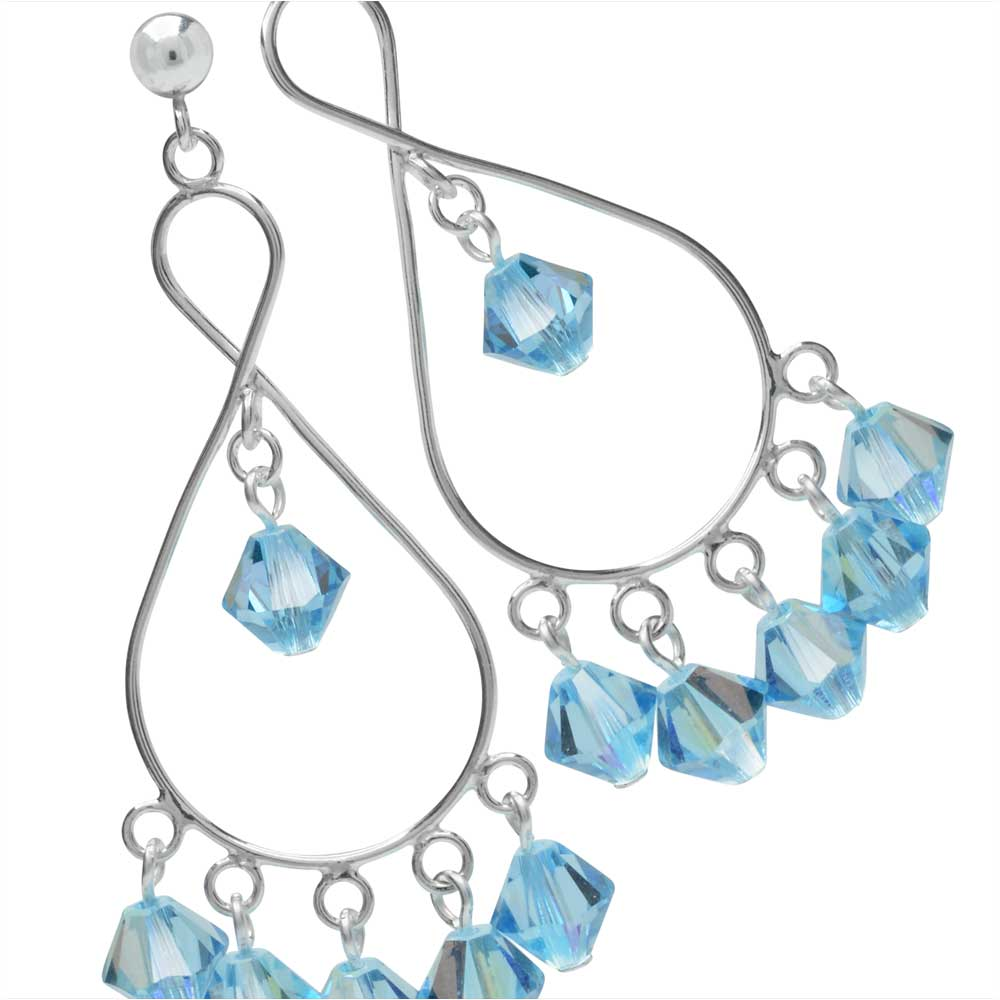 Retired - Aquamarine Shimmer Sterling Silver Earrings