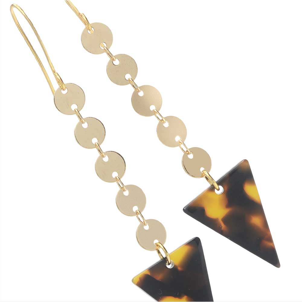 Triangle Tortoise Shell Acetate Earrings