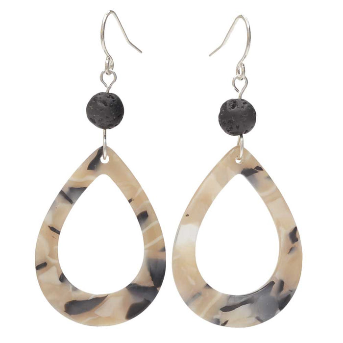 Modern Geo-Lava Earrings