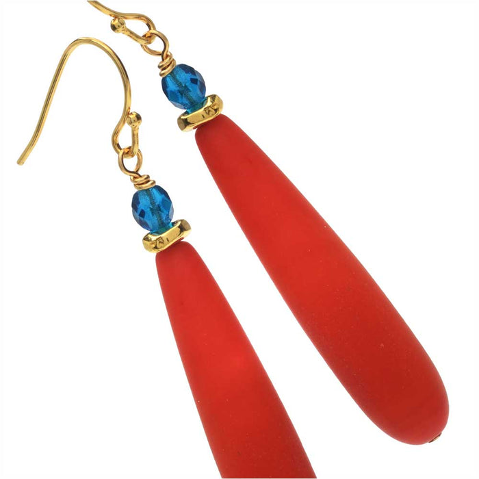Orange Bay Earrings