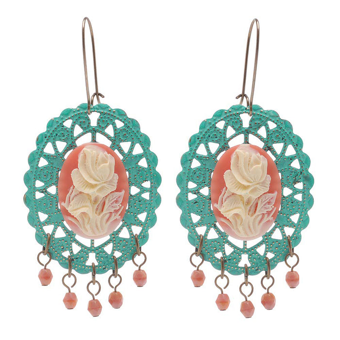 Retired - A Rose Is A Rose Earrings