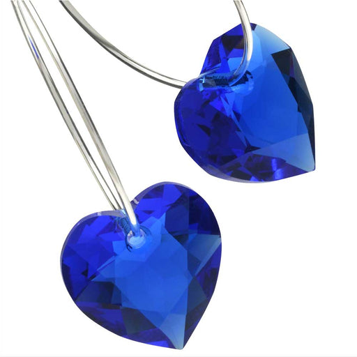 So Blue for You Heart Earrings