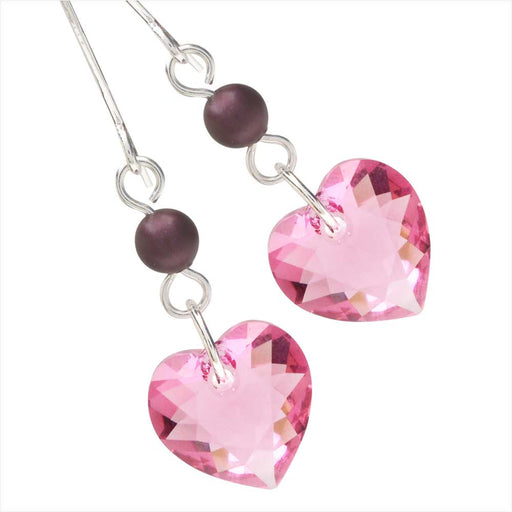 Elderberry Heart Earrings