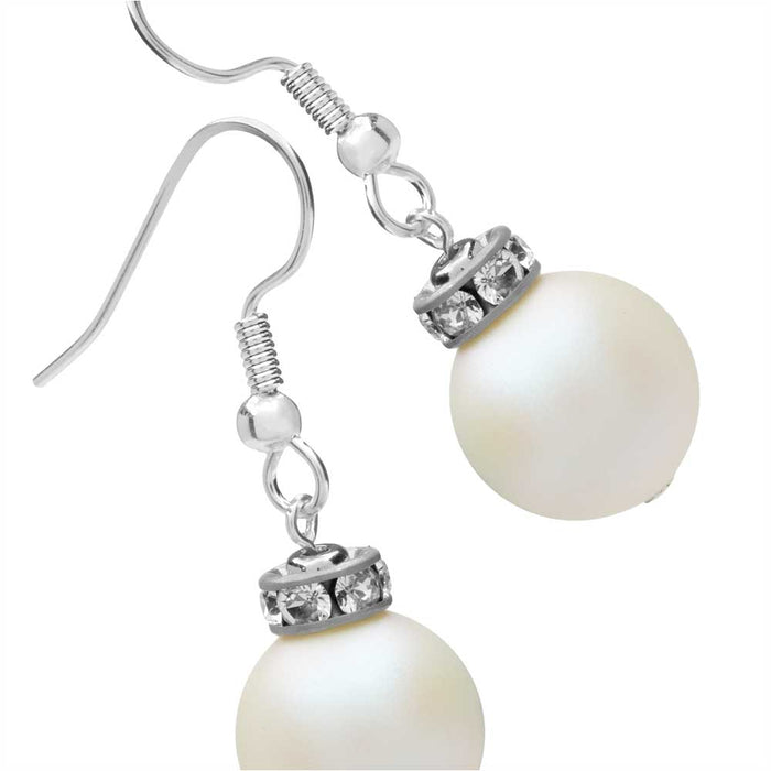 Christmas Ornament Earrings in White