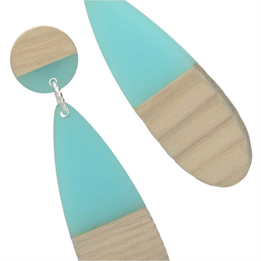 Turquoise Stud Drop Earrings