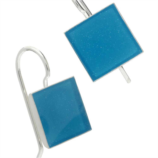 Blue Square Dance Earrings
