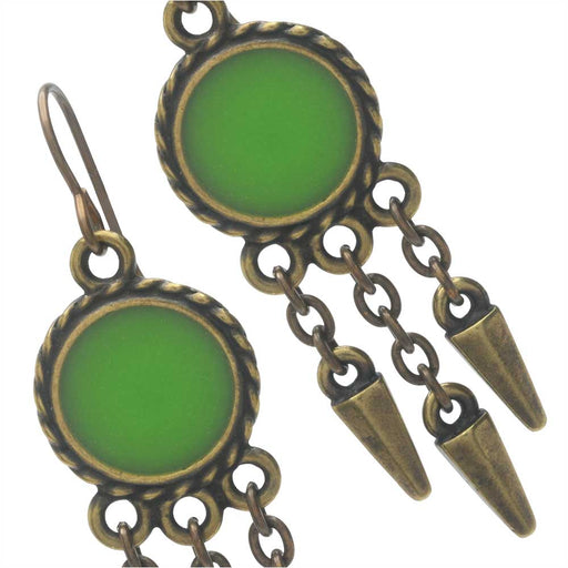 Spiked Green Apple Earrings