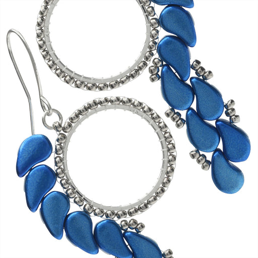 Paisley Pixie Earrings in Metalust Crown Blue