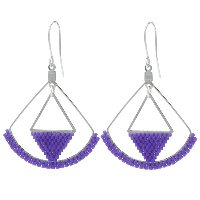 Violet Blue Afternoon Earrings