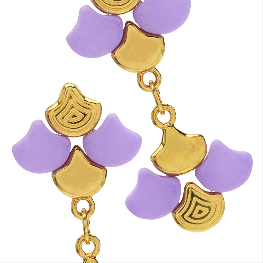 Graceful Ginko Earrings in Purple