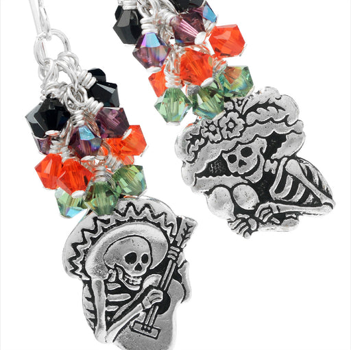 Dia de los Muertos Earrings featuring Swarovski Crystals