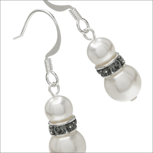 Pearl Snowman Earrings
