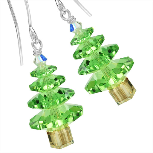 Peridot Tree Earrings