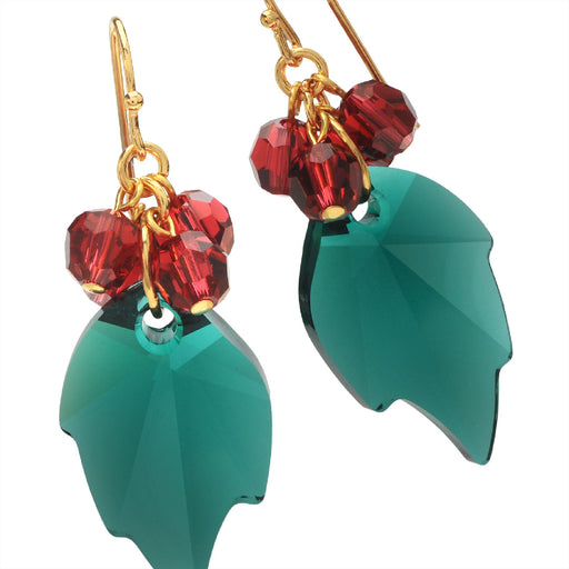 Merry Holly Leaf Earrings