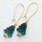 Emerald Christmas Tree Earrings