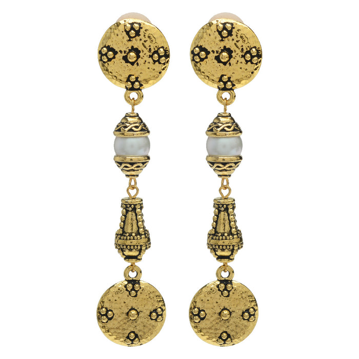 Opulence Clip on Earrings in Gold