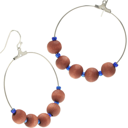 Blue Island Hoop Earrings