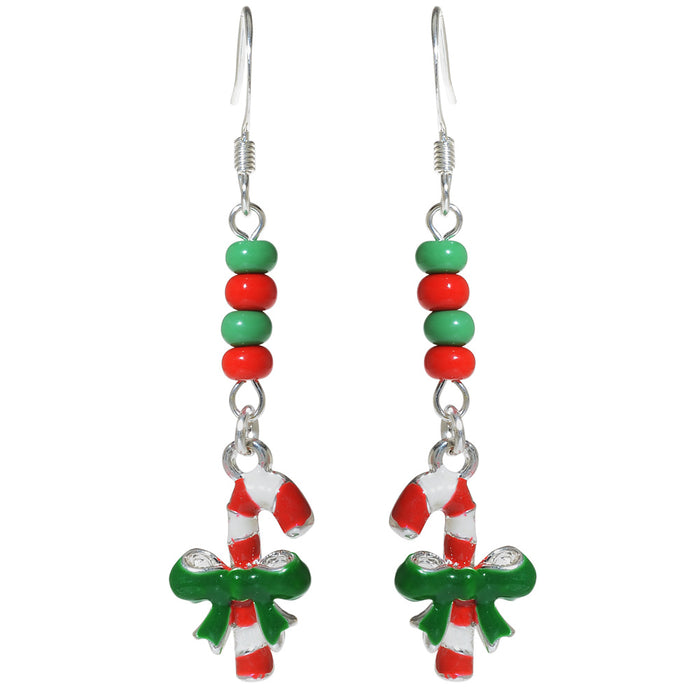 Retired - Candy Cane Earrings