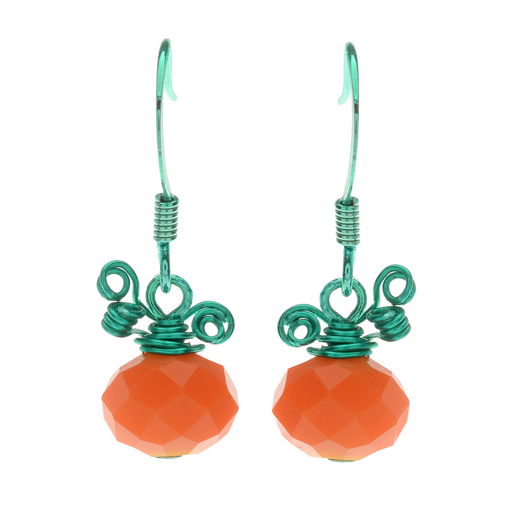Retired - Petite Pumpkin Earrings
