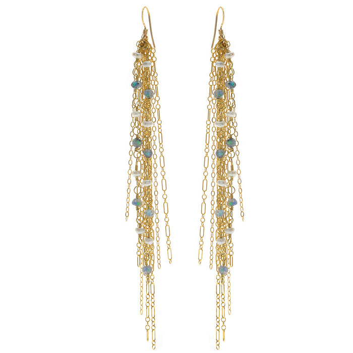 Cascading Gemstone Earrings