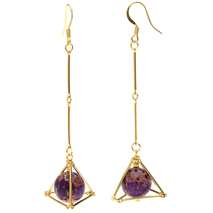 Retired - Geometric Gemstone Earrings