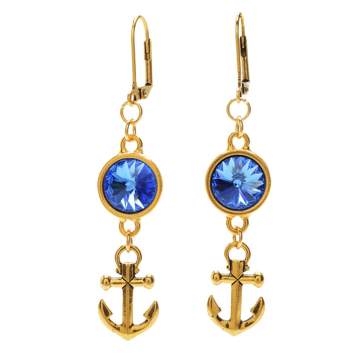 Retired - Crystal Anchor Earrings