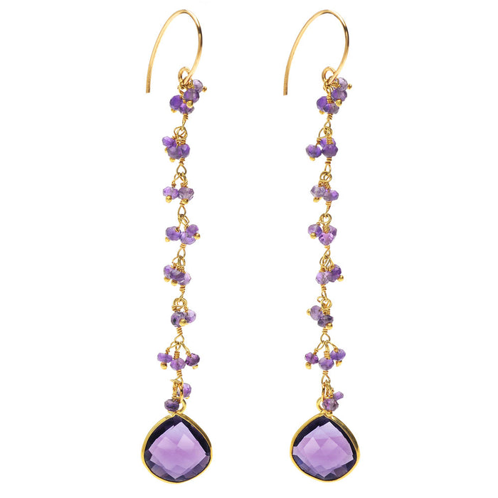 Retired -  Amethyst Haze Earrings